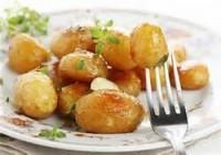 Glazed potatoes